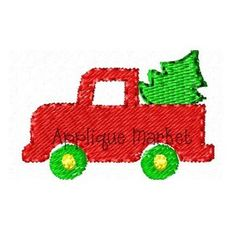 Machine Embroidery Design Applique Mini Truck with by tmmdesigns, $3.00