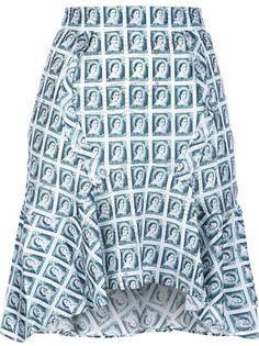 Carven Stamp Print Skirt