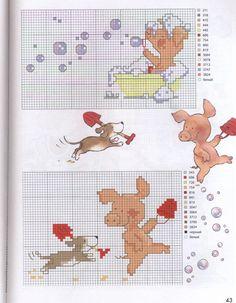 Gráficos ponto cruz Drica: Porquinhos em ponto cruz