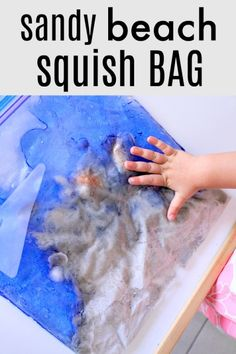 Sandy Beach Sensory Squish Bag for Summer Sensory Play