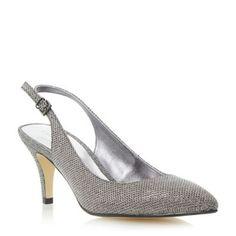 Roland Cartier Metallic slingback mid heel court shoe- at Debenhams.com