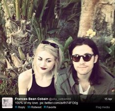 Frances Bean Cobain is dating a man that looks JUST LIKE HER DEAD FATHER.
