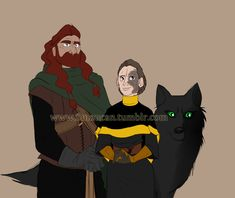 Queen of the Stormlands WIP by TopHatTurtle.deviantart.com on @deviantARTShaggydog, adult Rickon Stark and Shireen Baratheon (c) Game of Thrones, a Song of Ice and Fire, George R. R. Martin