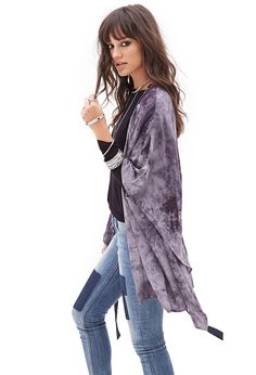 Tie-Dye Kimono #F21StatementPiece