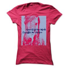 American by birth Cowgirl by choice T-Shirts, Hoodies. VIEW DETAIL ==► https://www.sunfrog.com/LifeStyle/American-by-birth-Cowgirl-by-chioce.html?id=41382
