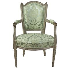 Louis XVI Paintwood Fauteuil | From a unique collection of antique and modern armchairs at http://www.1stdibs.com/furniture/seating/armchairs/