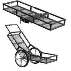 500 lb. Capacity Hitch Mounted Cargo Carrier, Black