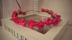 My handmade roses headdress.
