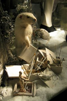 NYC: Bergdorf Goodman's 2008 Holiday window display - Calendar Girls - Winter