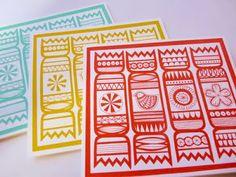 print & pattern: XMAS 2010 - design round up Christmas Cards 2017, Xmas Cards, Christmas Design, Christmas Art, Jane Foster, Handmade Stamps, Linoprint, Christmas Crackers, Linocut Prints