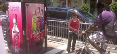 Pedal-powered vending machine dispenses free drinks