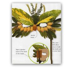 Best Pins on Pinterest - DIY Tutorial Nature Leaves Owl Mask for Kids