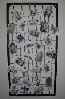 old crib to hold/display pics of you guys at your wedding. Or place place cards on here! Have one just picked up from freecycle. thoughts?@Amanda Eckstein