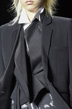 Vintage, modern. JOIN ME at http://www.thevintagelighthouse.com/ Ann Demeulemeester at Paris Fall 2016