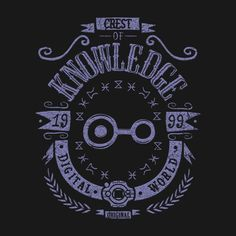 KNOWLEDGE T-Shirt - Digimon T-Shirt is $12.99 today at Once Upon a Tee!