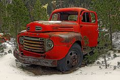 Truck,  I drove one just like this when I was just a kid. It was red also.