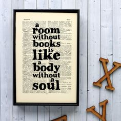 Book Lover's Literary Gift Print