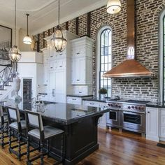 57 Spectacular interiors with exposed brick walls! (image via HGTV Remodels)