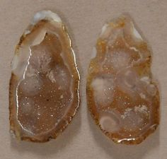 Tabasco Geode 1 Pair Cut and Polished Great for Jewelry 29575 #Unbranded