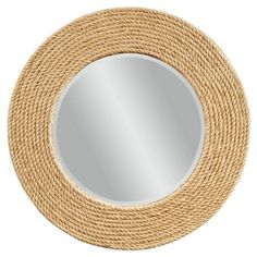 Check out this item at One Kings Lane! Quincy Rope Wall Mirror, Natural