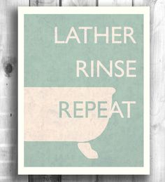 Typographic Poster Bathroom Wall Art Digital Decor by Happy Letter Shop Bathroom Posters, Bathroom Prints, Bathroom Wall Art, Washroom, Bathroom Ideas, Quote Prints, Wall Prints, Block Craft, Typographic Poster