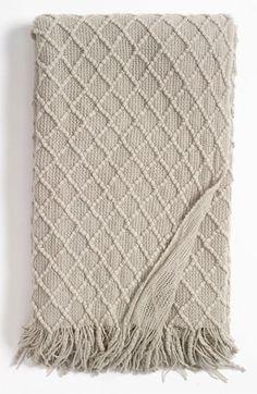 Kennebunk Home 'Lattice' Throw - Grey Feather