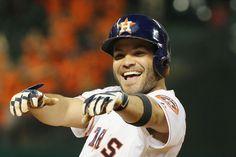 Jose Altuve is having a good time Sunday after Astros swept the L.A.Dodgers in 3 games