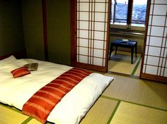Kyoto, Japan - I want to stay in a ryokan, Japanese style rooms with tatami mat floors, shoji screen doors with access to an onsen (natural hotspring), please! <3