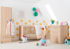A complete co-ordinating nursery furniture solution with cot bed, wardrobe and dresser. A Kiddicare bestseller offering incredibly good value for money, the Trio is the perfect ensemble for the compact nursery.