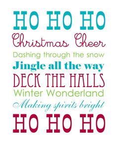 22 Free Christmas/Holiday printables from tatertotsandjello.com