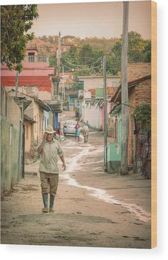 Joan Carroll Wood Print featuring the photograph Early Morning In Trinidad Cuba II by Joan Carroll