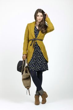 INDI & COLD cardigan, dress and tights
