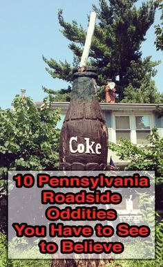 10 Pennsylvania Roadside Oddities You Have to See to Believe The are many strange roadside attractions in PA. Find out the history and locatation of a few of my favorite Pennsylvania roadside oddities. Oh The Places You'll Go, Places To Travel, Travel Destinations, Travel Sights, Weekend Trips, Day Trips, East Coast Road Trip, Roadside Attractions, Road Trippin