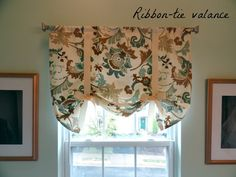 Super easy DIY ribbon-tie valence <3