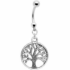 Tree of Life Belly Ring on Wanelo