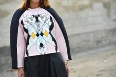 the über-cool neoprene sweatshirt #pfw