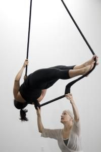 I'm dying to take a class in Aerial Yoga Just need to find out where! Come ON Lifetime Fitness get one!!