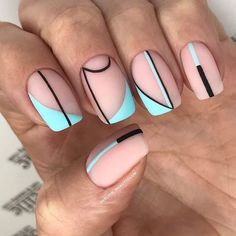Discover new and inspirational nail art for your short nail designs. Simple Nail Art Designs, Short Nail Designs, Easy Nail Art, Simple Art, Round Nail Designs, Striped Nail Designs, Stylish Nails, Trendy Nails, Cute Nails