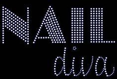 NAIL diva Rhinestone Motif Design TShirt Nail diva Rhinstone Design Motif Tee Shirt Nail diva bling motif design tee shirts Nail Diva Shirts