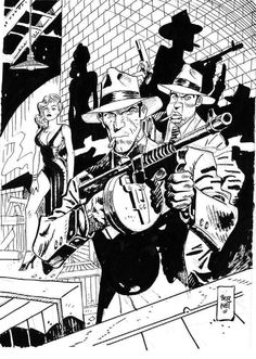 Comic Art, Comic Books, Comic Frame, Jordi Bernet, Black And White Sketches, Graphic Illustrations, Cartoon Characters, Fictional Characters, Marvel Heroes