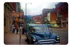 A street scene in Deadwood, South Dakota 1952