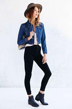 jeans negros botin