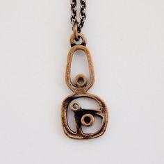 Pentti Sarpaneva for Turun Hopea, Modernist vintage bronze necklace, 1970's. #Finland   Hopea20 / Etsy
