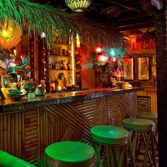 Hale Kahiki is a near mythical tiki bar in LA created by my friends Alan Smart and Michael Uhlenkott in their basement. I remember looking at their dirt basement and then looking at their concept artwork and thinking it would be years, but in just months,