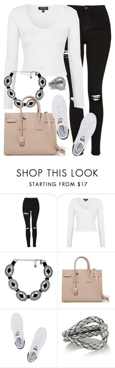"""Untitled #2724"" by elenaday on Polyvore featuring Topshop, Vanessa Mooney, Yves Saint Laurent, adidas Originals and Bottega Veneta"