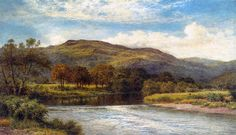 "Benjamin Williams Leader (1831-1923) The Conway Near Bettws y Coed Oil on canvas -1910 92 x 153 cm (36"" x 60"") Private collection"