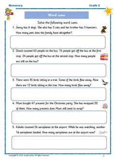 FREE Grade 2: Word Problems Numeracy, Her Brother, Word Problems, Grade 2, Words, Free, Second Grade, Horse