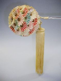 Handwork Acrylic Flower Japanese Hairpin Kanzashi  for Kimono Fairy Geisha Gift