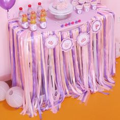 do this myself with ribbons to match theme