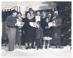 Caroling with the Mt. Hope Lutheran Church staff, ca. 1959.